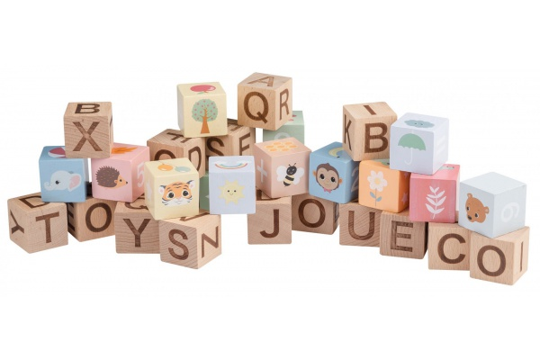 The Wildies Family Alphabet blocks with bag