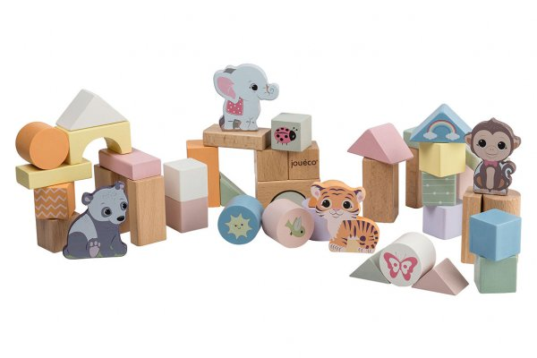 The Wildies Family Wooden blocks in barrel 50 pcs