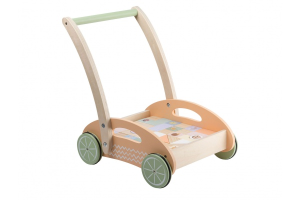 The Wildies Family Baby walker with blocks