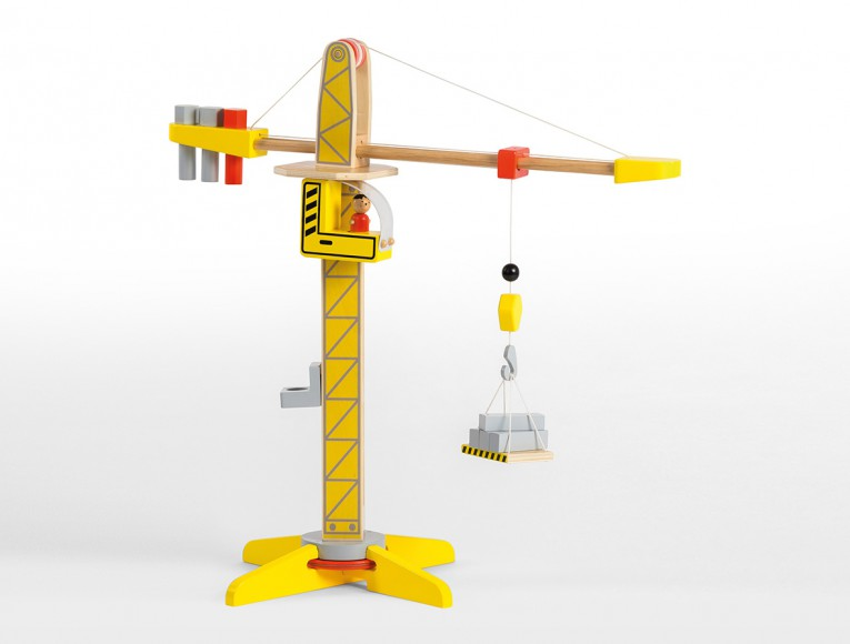 Wooden Crane with accessories